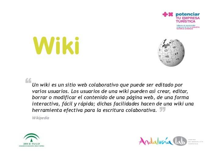 """Wiki """" Un wikiusuarios. Losweb colaborativo wiki puede ser editadoeditar,   varios           es un sitio                  ..."""