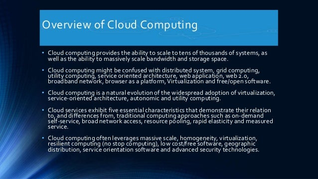 an overview of the security of data in computing Cloud security overview part-1  • cloud computing refers to applications,  casb technology overview – data protection.