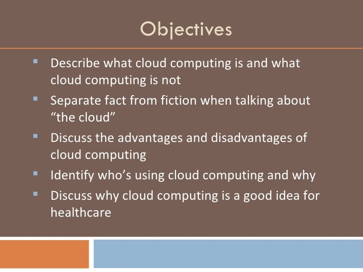 Cloud Computing And Health Care Facing The Future