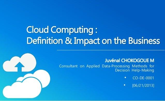 impact of cloud computing on users