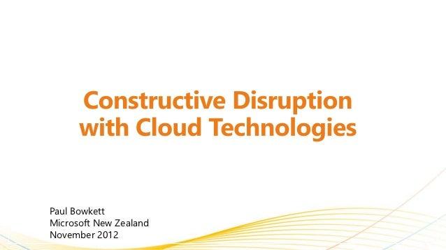 Paul BowkettMicrosoft New ZealandNovember 2012