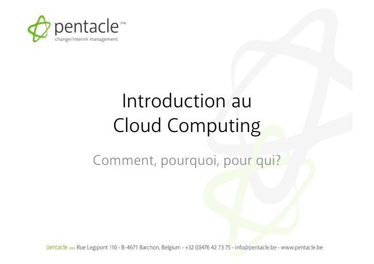 Cloud computing day - Technofutur TIC
