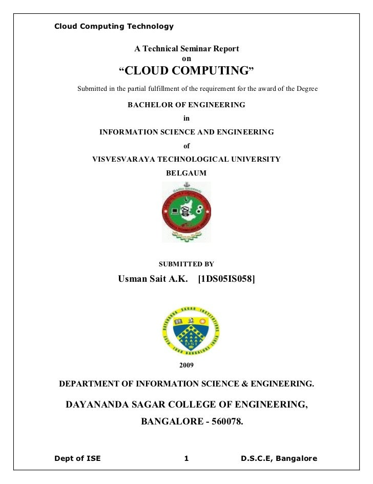 Cloud Computing Technology                           A Technical Seminar Report                                     on    ...