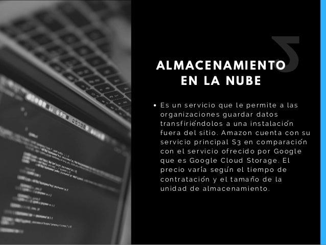 Es un servicio que le permite a las organizaciones guardar datos transfiriéndolos a una instalación fuera del sitio. Ama...