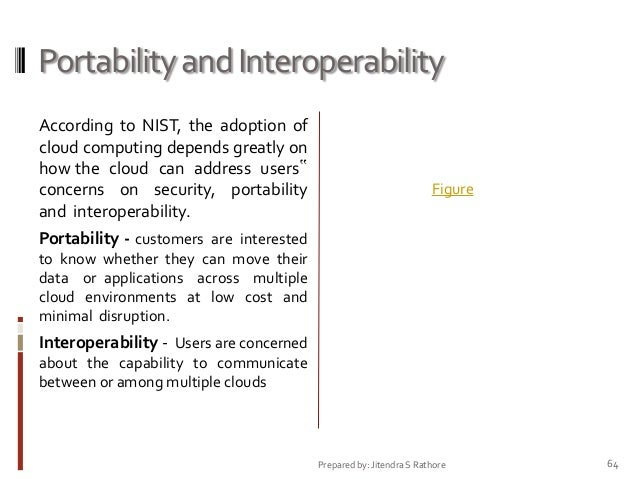 Portability and Interoperability According to NIST, the adoption of cloud computing depends greatly on how the cloud can a...