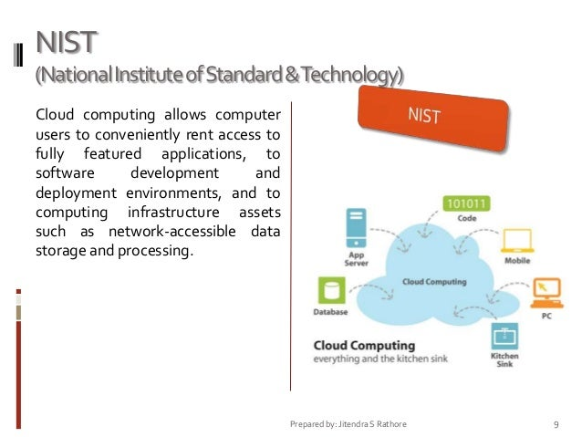 NIST (National Institute of Standard &Technology) Cloud computing allows computer users to conveniently rent access to ful...