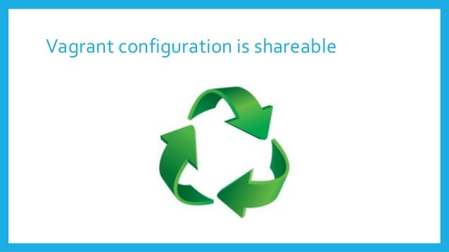 Vagrant configuration is shareable