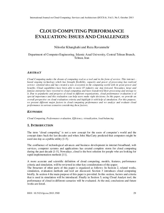 International Journal on Cloud Computing: Services and Architecture (IJCCSA) ,Vol.3, No.5, October 2013  CLOUD COMPUTING P...