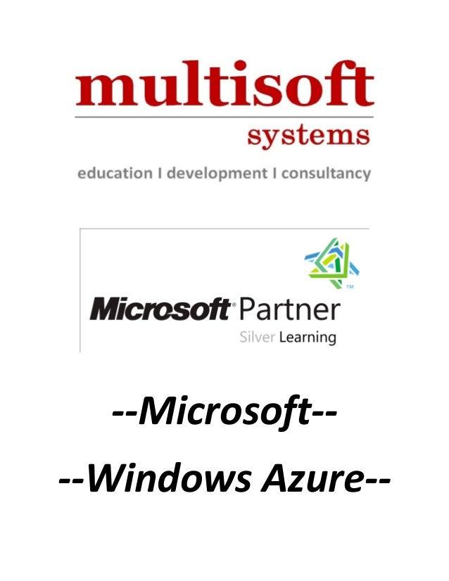 --Microsoft-- --Windows Azure--