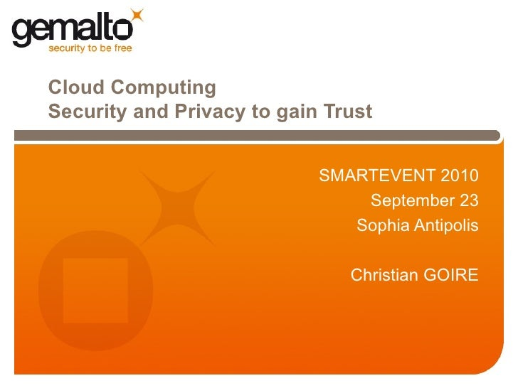 Cloud computing security and privacy christian goire