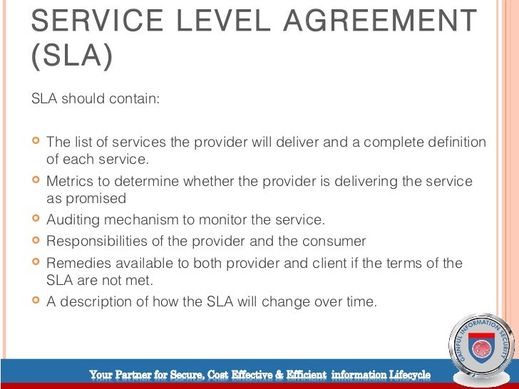 Cloud Computing  Service Level Agreements