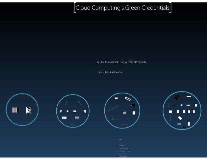 Cloud Computing's Green Credentials