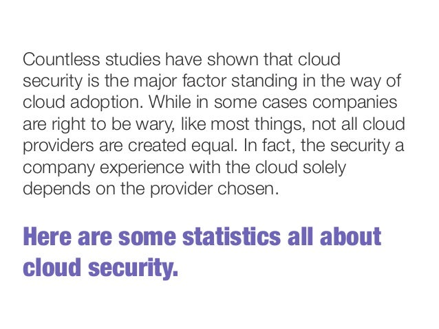 Cloud Computing Stats - Security and Recovery Slide 3