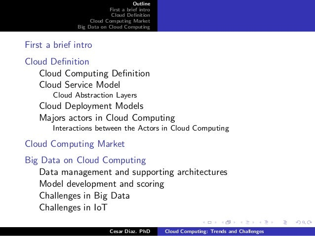 cloud computing trends and challenges Assessing the opportunities and challenges of cloud computing  industry  trends, and advanced development opportunities and initiatives.