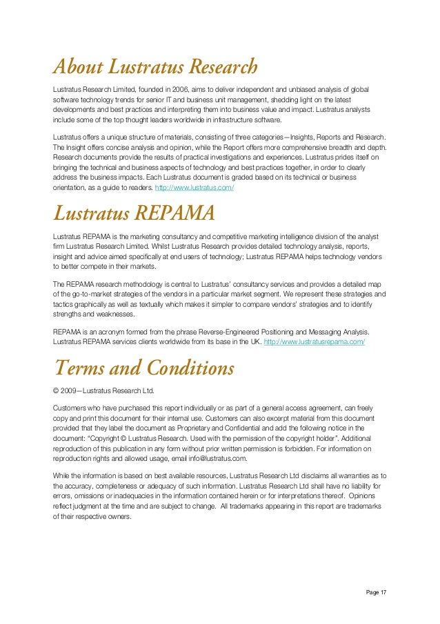 Page 17 About Lustratus Research Lustratus Research Limited, founded in 2006, aims to deliver independent and unbiased an...