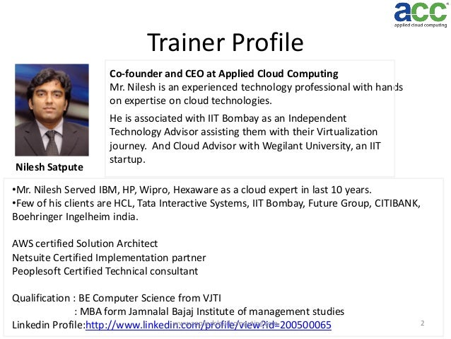 personal trainer client profile template - cloud computing workshop at iit bombay