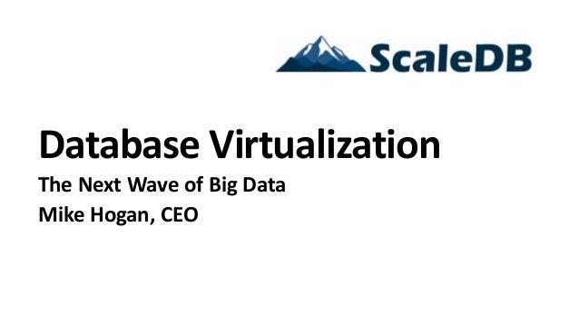 Database VirtualizationThe Next Wave of Big DataMike Hogan, CEO