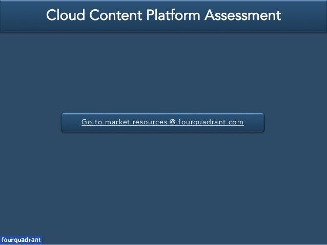 Go to market resources @ fourquadrant.com Cloud Content Platform Assessment