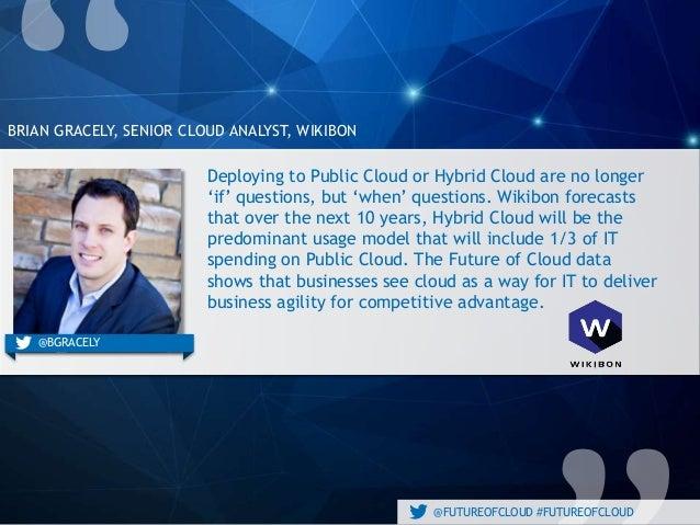 @FUTUREOFCLOUD #FUTUREOFCLOUD BRIAN GRACELY, SENIOR CLOUD ANALYST, WIKIBON @engineyard@BGRACELY Deploying to Public Cloud ...