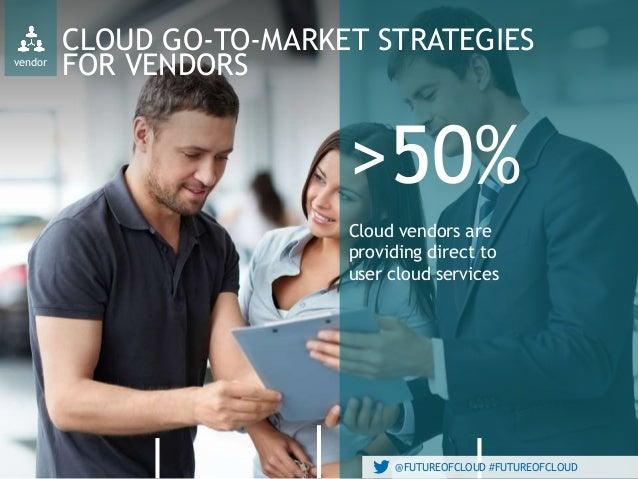 @FUTUREOFCLOUD #FUTUREOFCLOUD vendor CLOUD GO-TO-MARKET STRATEGIES FOR VENDORS >50% Cloud vendors are providing direct to ...