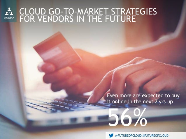@FUTUREOFCLOUD #FUTUREOFCLOUD CLOUD GO-TO-MARKET STRATEGIES FOR VENDORS IN THE FUTURE Even more are expected to buy it onl...