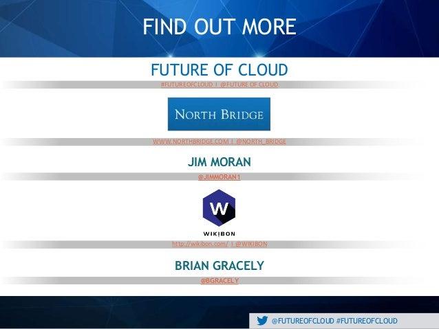 @FUTUREOFCLOUD #FUTUREOFCLOUD FIND OUT MORE #FUTUREOFCLOUD I @FUTURE OF CLOUD WWW.NORTHBRIDGE.COM I @NORTH_BRIDGE http://w...