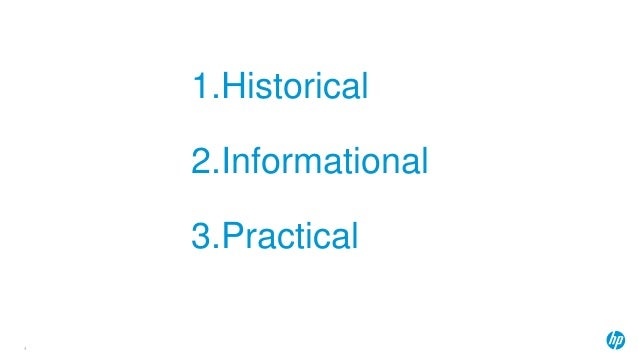 1.Historical 2.Informational 3.Practical 4