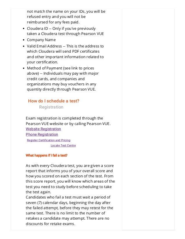 Cloudera Hadoop Certification