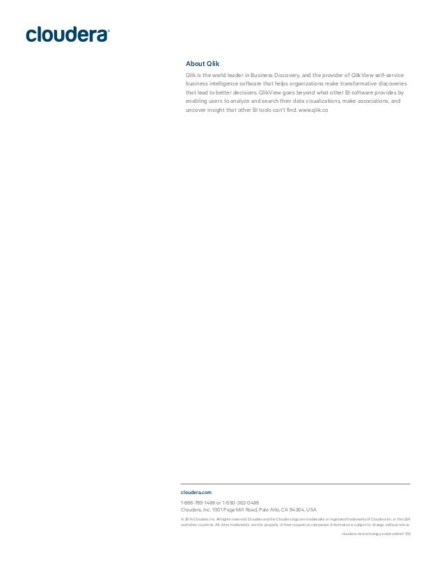 cloudera-microstrategy-solutionbrief-103 1-888-789-1488 or 1-650-362-0488 Cloudera, Inc. 1001 Page Mill Road, Palo Alto, C...