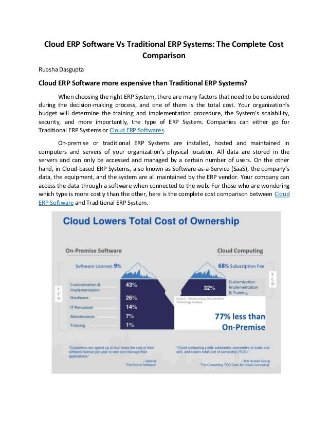 Cloud ERP Software Vs Traditional ERP Systems: The Complete Cost Comparison Rupsha Dasgupta Cloud ERP Software more expens...