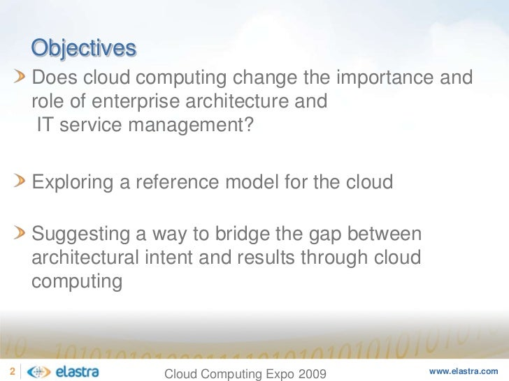 Cloud Computing and the Next-Generation of Enterprise Architecture - Cloud Computing Expo 2008 Slide 2