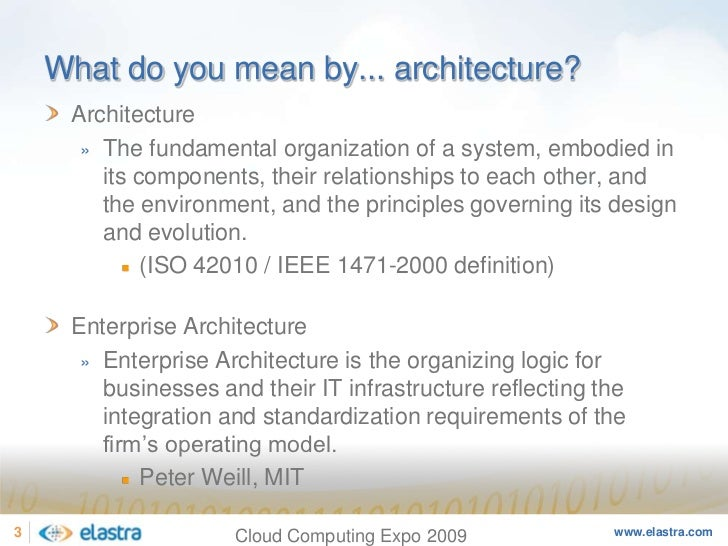 Cloud Computing and the Next-Generation of Enterprise Architecture - Cloud Computing Expo 2008 Slide 3