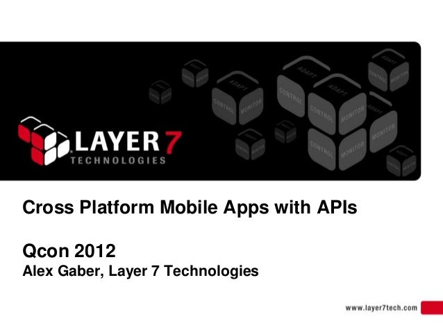 Cross Platform Mobile Apps with APIsQcon 2012Alex Gaber, Layer 7 Technologies