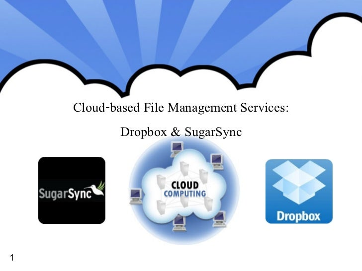 Cloud-based File Management Services:            Dropbox & SugarSync1