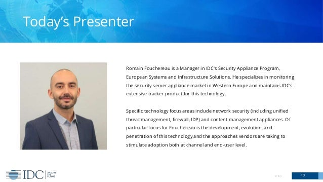 Romain Fouchereau is a Manager in IDC's Security Appliance Program, European Systems and Infrastructure Solutions. He spec...
