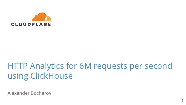 HTTP Analytics for 6M requests per second using ClickHouse Alexander Bocharov 1