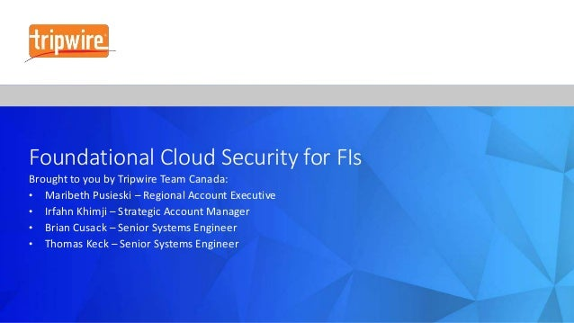 Cloud Security for Canadian Financial Institutions