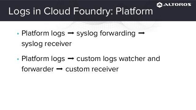 Cloud Foundry Monitoring How-To: Collecting Metrics and Logs
