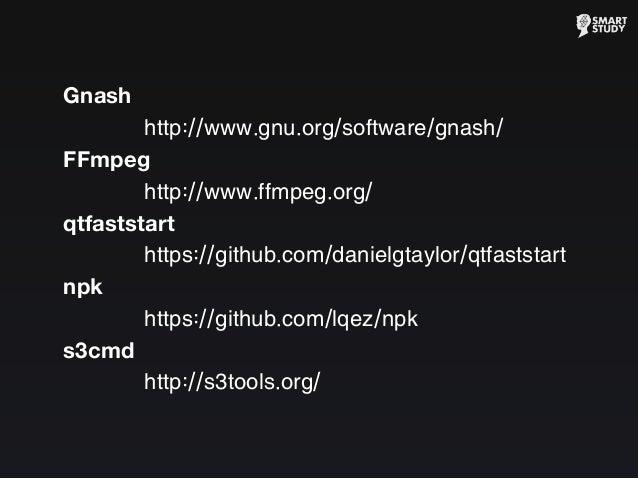 Gnash http://www.gnu.org/software/gnash/ FFmpeg http://www.ffmpeg.org/ qtfaststart https://github.com/danielgtaylor/qtfast...