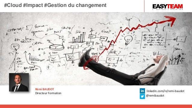 Rémi BAUDOT Directeur Formation linkedin.com/in/remi-baudot @remibaudot #Cloud #Impact #Gestion du changement