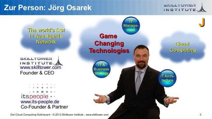 Der Cloud Computing Goldrausch - Bauernfaenger und echte Chancen Slide 3