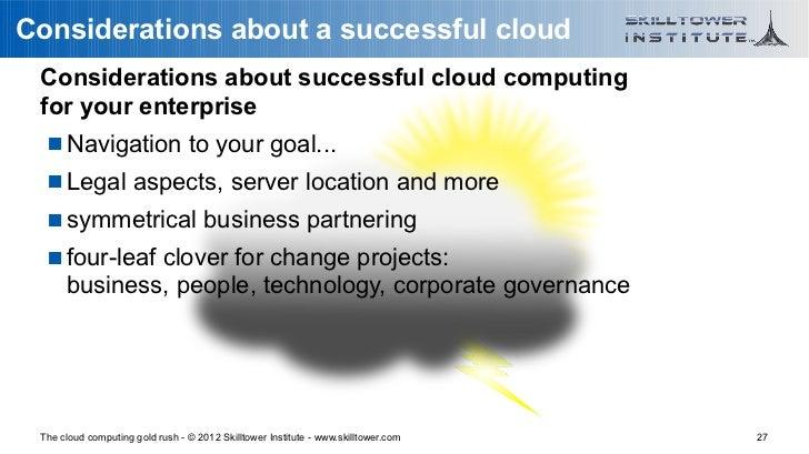 Considerations about a successful cloud Considerations about successful cloud computing for your enterprise    Navigation...