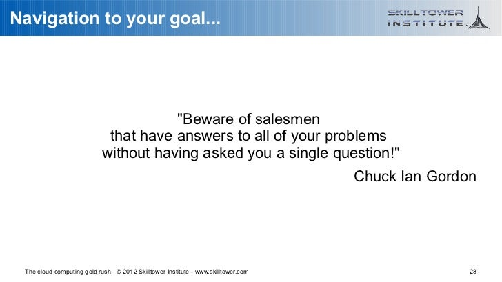 """Navigation to your goal...                                       """"Beware of salesmen                             that have..."""