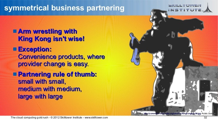 symmetrical business partnering    Arm wrestling with      King Kong isnt wise!    Exception:      Convenience products,...