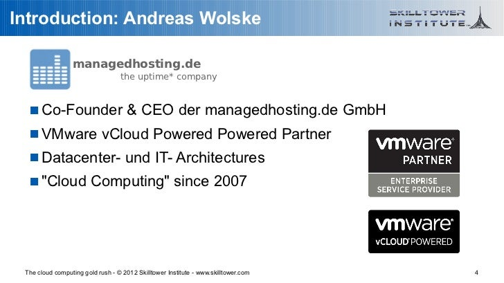 Introduction: Andreas Wolske                 managedhosting.de                                  the uptime* company    Co...