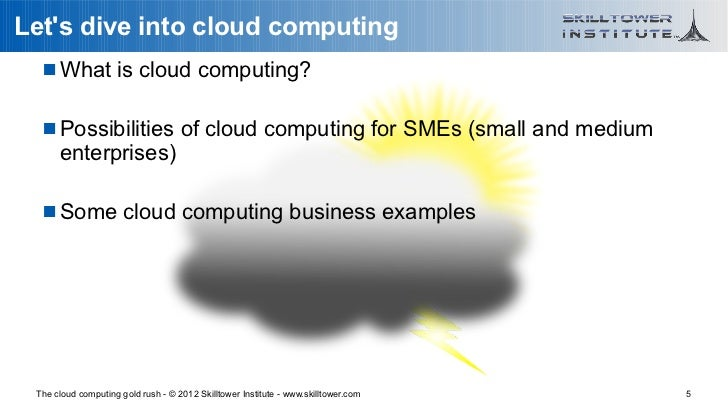 Lets dive into cloud computing    What is cloud computing?    Possibilities of cloud computing for SMEs (small and mediu...