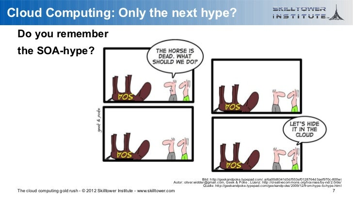 Cloud Computing: Only the next hype? Do you remember the SOA-hype?                                                        ...