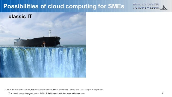 Possibilities of cloud computing for SMEs    classic ITFotos: © #359460 NatashaOwen, #945983 DanielSainthorant, #7058491 L...