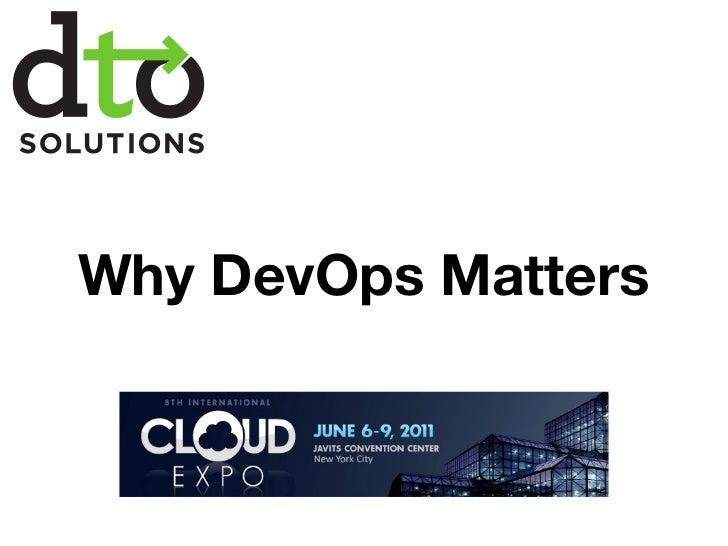 Why DevOps Matters