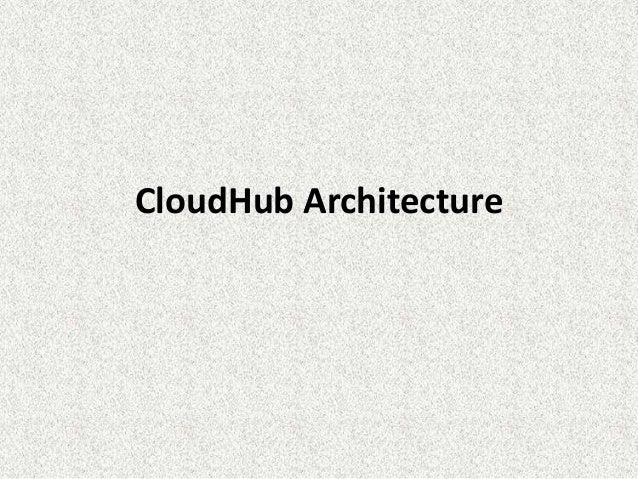 CloudHub Architecture
